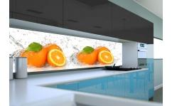 Panel szklany do kuchni POMARAŃCZE W WODZIE