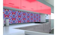 Panel szklany do kuchni VIOLET FOLK