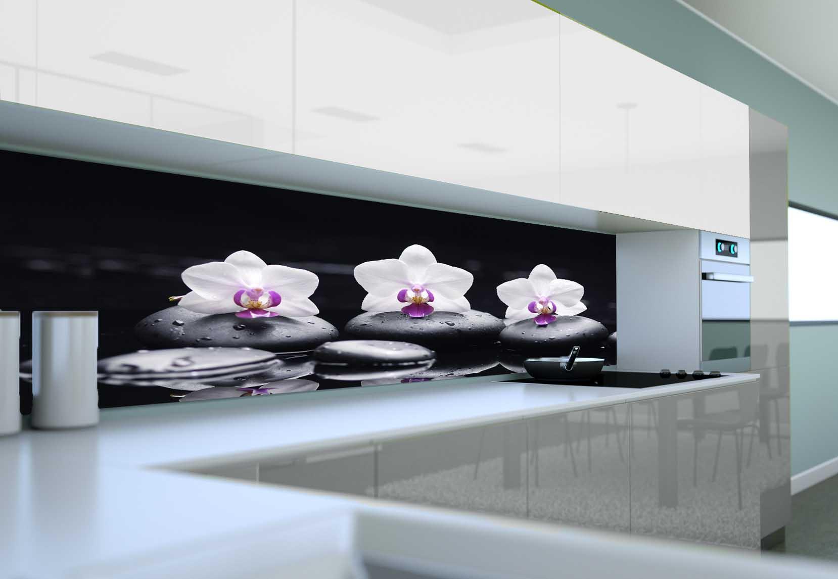 Panel Szklany Do Kuchni Orchidea Stone Ii