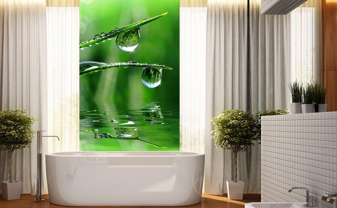 panel szklany do �azienki zielona kropla ii magic amp style