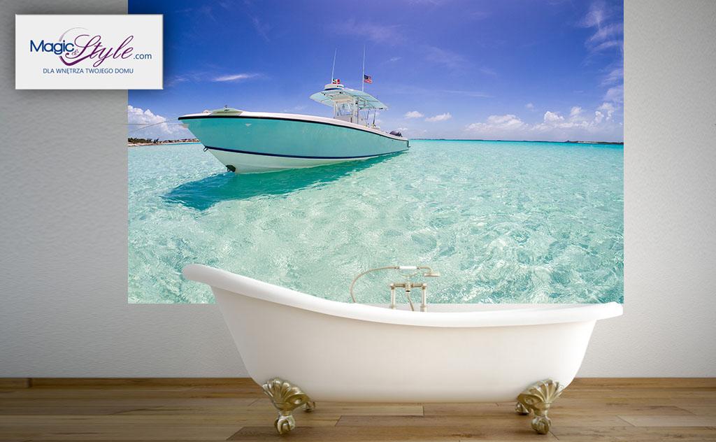 Fototapeta Do łazienki 120x100cm Jacht