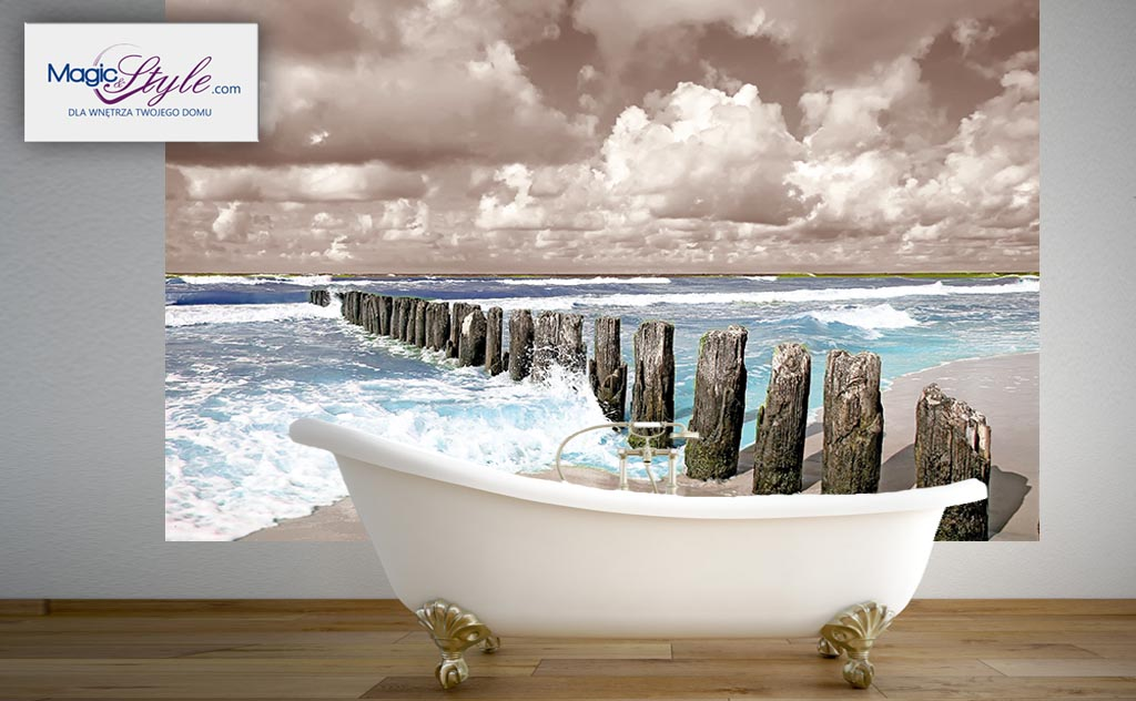 Fototapeta Do łazienki 120x100cm Morze Ii