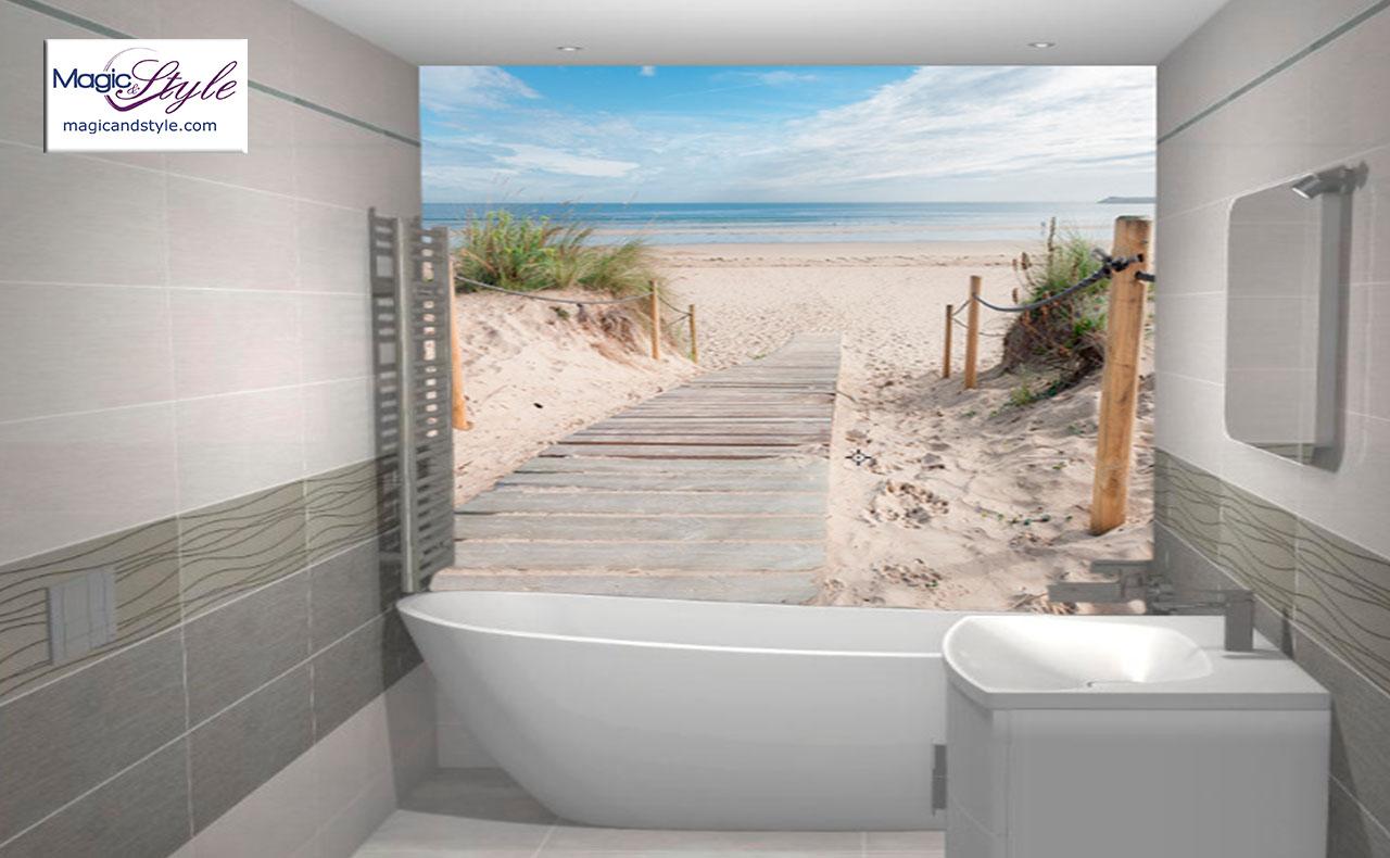 Fototapeta Do łazienki 120x100cm Wejście Na Plażę Ii