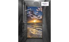 Panel szklany pod prysznic SUNSET BY THE SEA