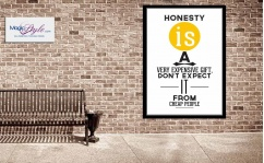 Plakat w ramce HONESTY YELLOW 50x70cm