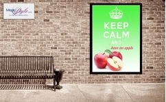 Plakat w ramce KEEP CALM APPLE 50x70cm