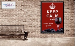 Plakat w ramce KEEP CALM WINE 50x70cm