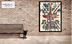 Plakat w ramce KEEP CALM FRIDAY 50x70cm