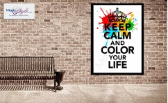 Plakat w ramce KEEP CALM COLOR 50x70cm