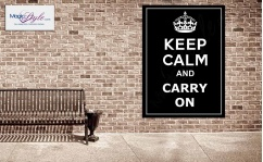 Plakat w ramce KEEP CALM CARRY ON 50x70cm